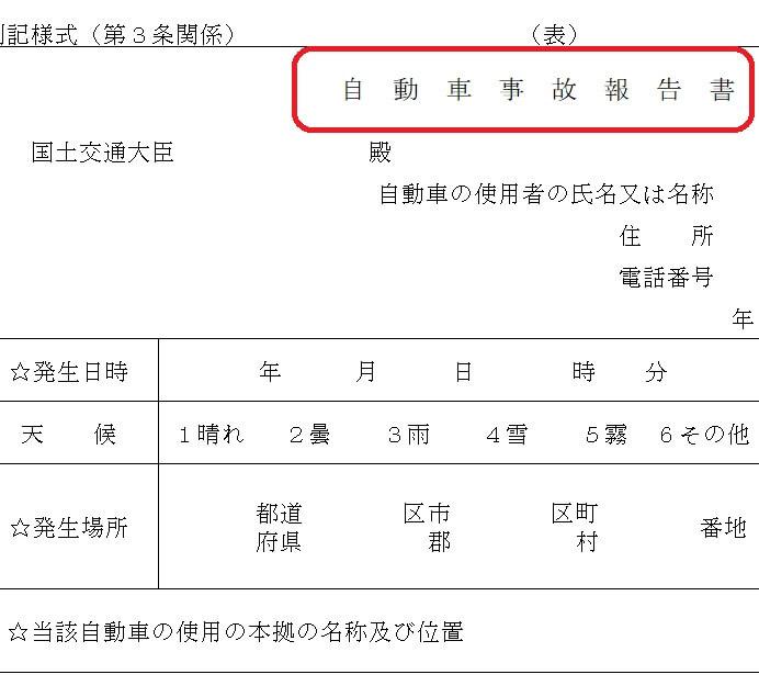事故報告のイメージ