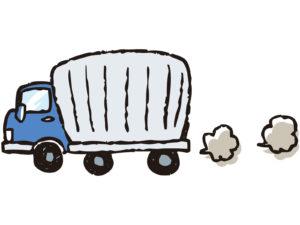 トラックの排気ガスのイメージ