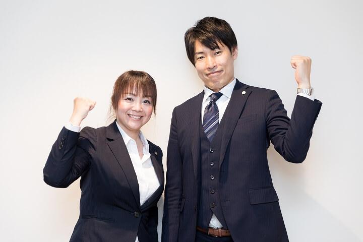 行政書士法人あゆみ 左:松本あゆみ先生 左:森井浩之先生