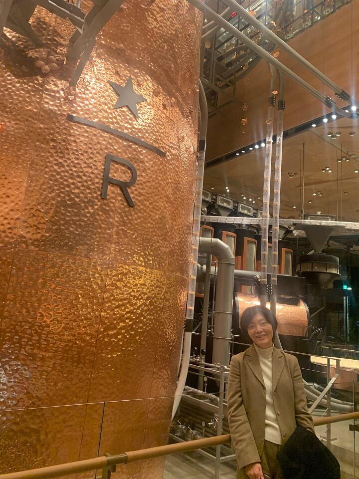STARBUCKS RESERVE ROASTERY TOKYO の巨大ロースター(焙煎機)